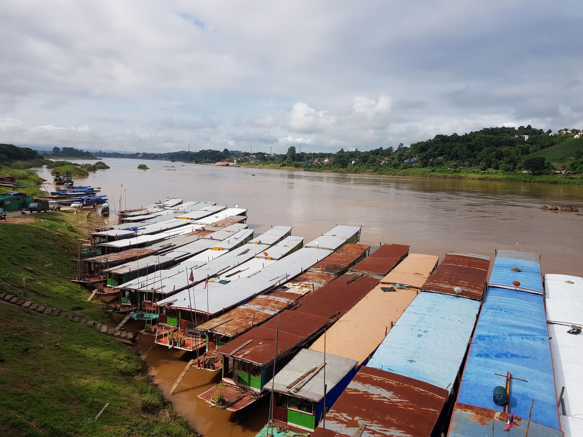 Slow Boat Pier in Houay Xai