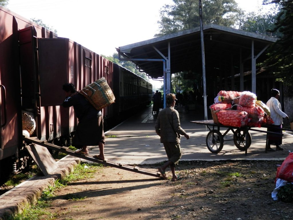 Loading Goods to the Train