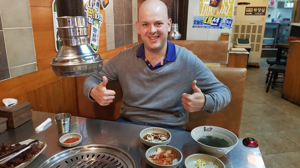 Kevin loves Korean BBQ