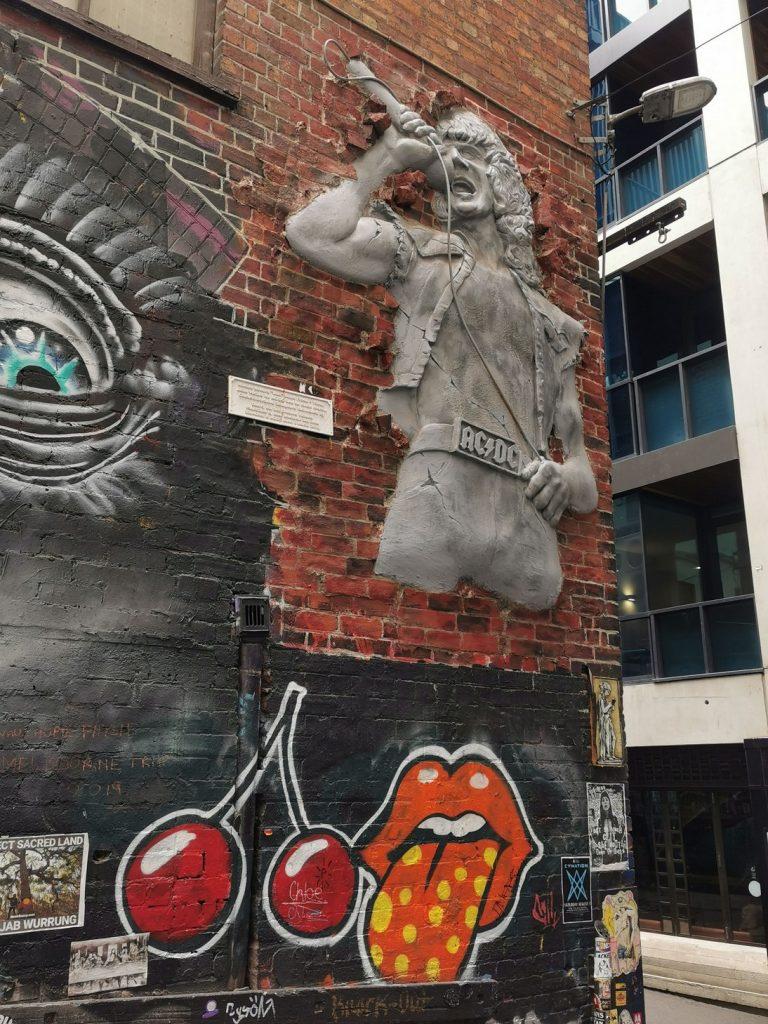 Mural at AC/DC Lane
