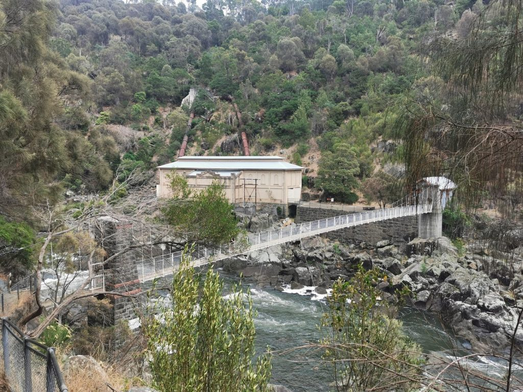 Cataract Gorge with the old Power Plant
