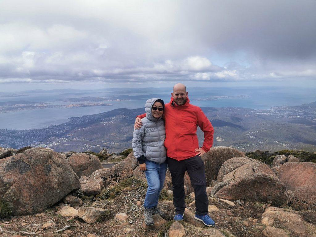 Us at Mount Wellington