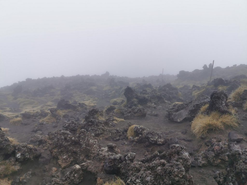 Vulcanic Rock in thick Fog