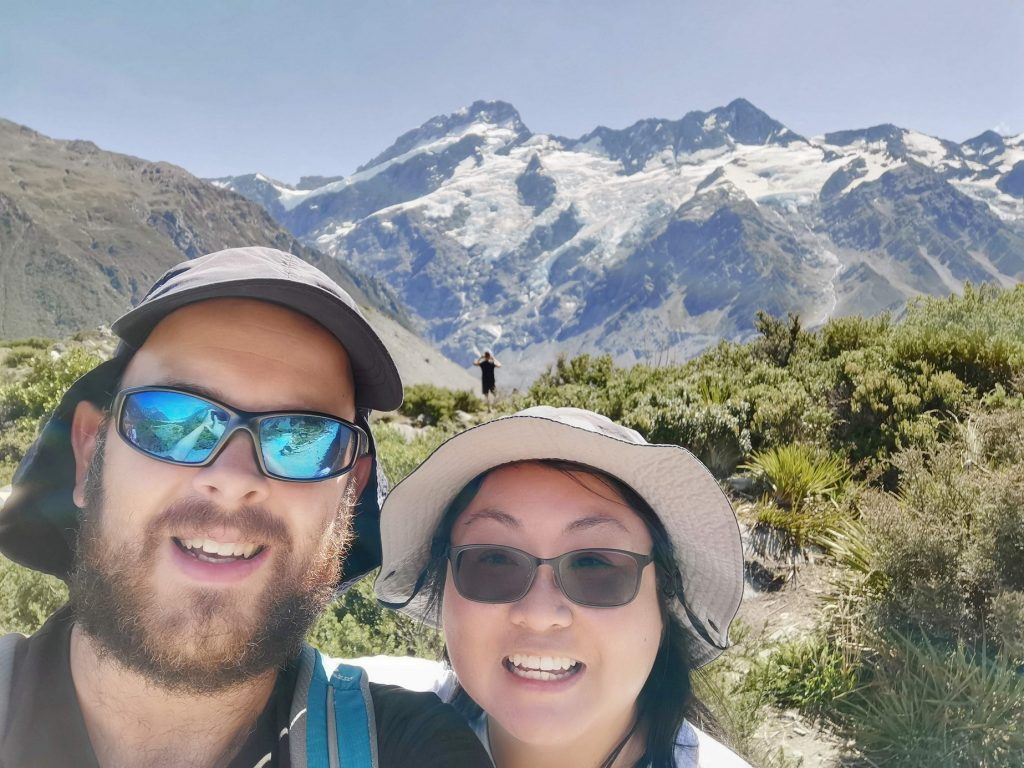 Us in front of Mount Cook