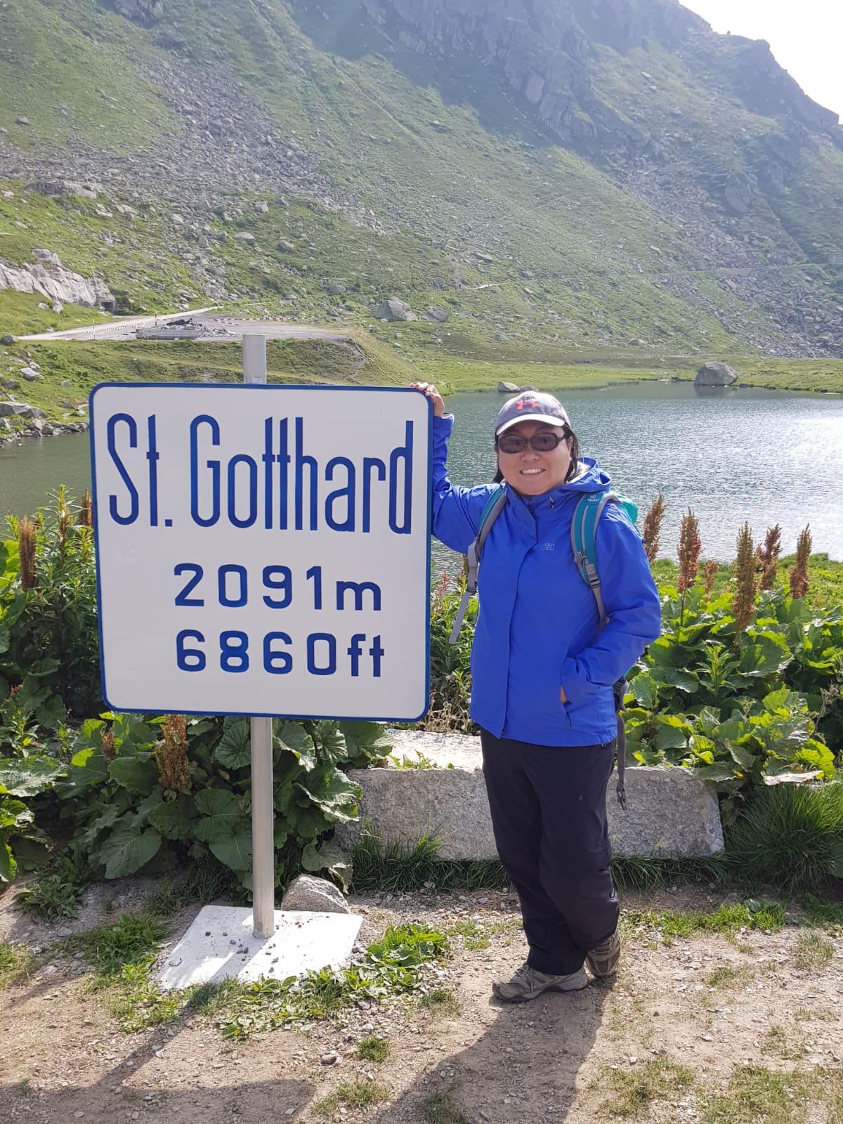 On top of St. Gotthard Pass